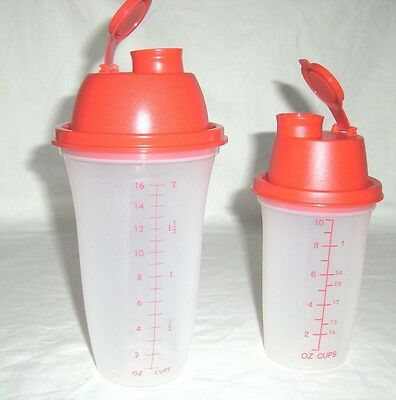 Tupperware Quick Shake Duo Mini Jr Shaker Blender Mixer Salad Dressing Drinks