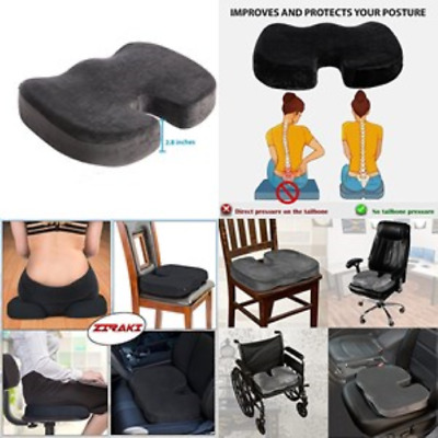 Orthopedic Coccyx Seat Cushion - Foam Tailbone Pillow for Sciatica + Pain Relief