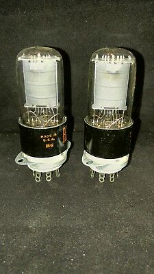 RCA matched pair of 6V6GT. NOS, 539C Tested and perfect. Limited time only