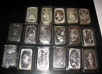 17 American Royal Mint & Cameo Classic Bars! Almost 1 Oz Each! 15 Grns Silver
