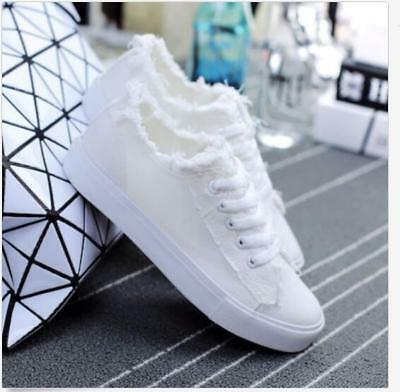 Korean Women's Lace-up canvas Cotton shoes Casual Canvas Sneakers Fashion
