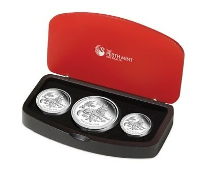 2018 Australian Lunar Series - Year of the Dog - Silver Proof 3 Coin Set - PM