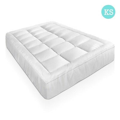NEW King Single Bed Bamboo Pillowtop Mattress Topper 5cm, 45cm Elastic Skirt
