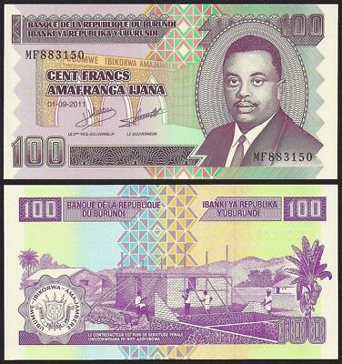 Other African Paper Money Burundi 500 Francs 2011 P45 Uncirculated Africa