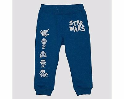 Brand New Kids Disney Star Wars Sweat Pants Blue Size 4T 2 Pockets Free Shipping