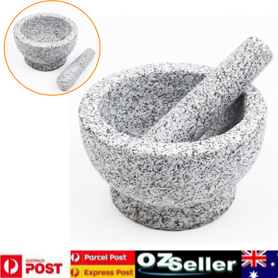 Heavy Weight Mortar And Pestle Set Multi-Functional Grinder Granite Heavy Duty