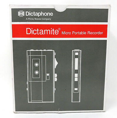DICTAPHONE Dictamite 3243 Microcassette Portable Voice Recorder Dictation NEW!