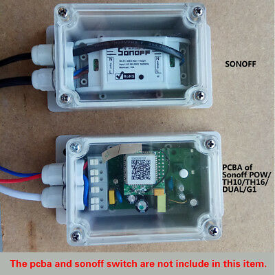 IP66 Waterproof Junction Box Plastic Electric Enclosure Case For Sonoff Basic 1'