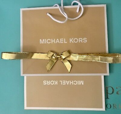 Michael Kors Speciality Store Paper Gift Bag Gift Box Ribbon 7.75 x 9.75 NEW