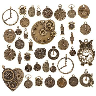 Beauty Mixed Clocks and Watches Dial Face Charm Jewelry Making Accessaries BC