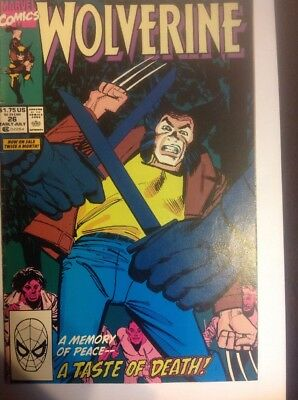 Wolverine  #26 Cover A (1988 Series) , 1st Print , Marvel Comics , NEAR MINT