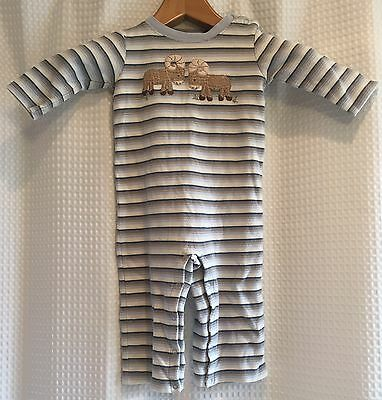 Gymboree~2 Rams~18-24M~1PC Coveralls Jumpsuit~Cotton~Snap Bottom~Striped