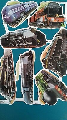 Vintage Style Die Cut  Paper Scraps New. Locomotives /steam Trains