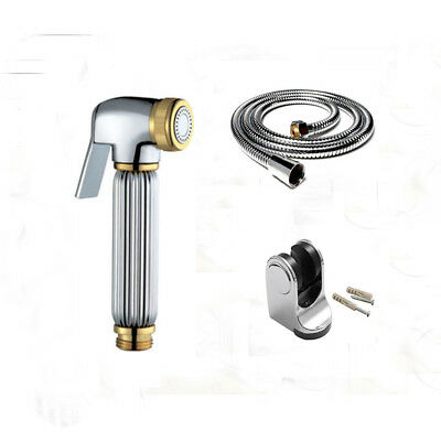3pcs Set Solid Brass Bidet faucet hand held shower spray Shower head for toilet