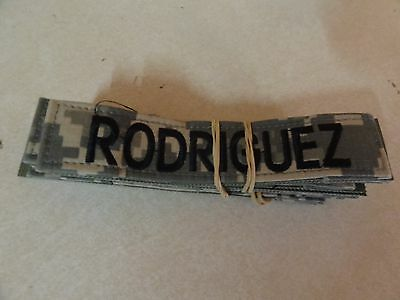 Military Us Army Patch For Acus Digital Hook And Loop Back Name Tape Rodriguez