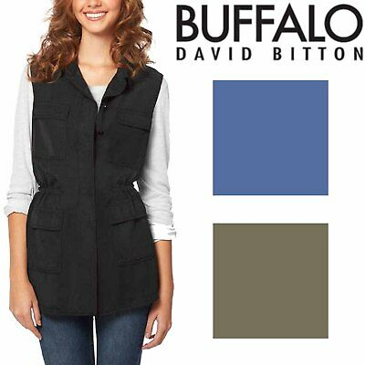 Buffalo David Bitton Womens Vintage Dyed Lightweight Adjustable Vest