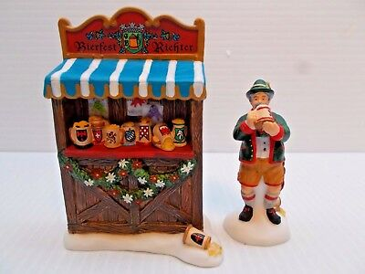 DEPT 56-56311 THE BIERFEST JUDGE SET OF 2 NEW c