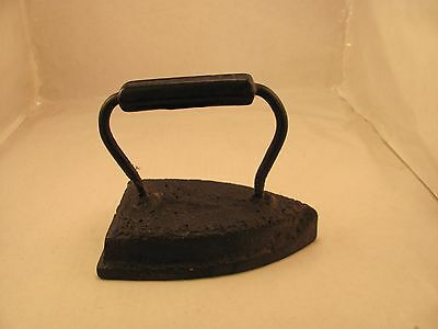Antique Sheffield Sad Iron Cast Iron Metal Clothes Press flat black 1800s usa
