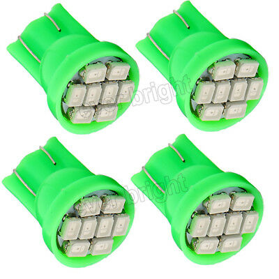 20X Green T10 W5W 8SMD 1206 LED Car Clearance Lamp Roof Light Reading Bulb 12V
