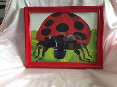 Grouchy Ladybug Red Framed Print Eric Carle
