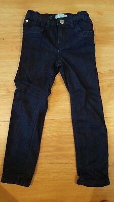 Age 4 Yrs Skinny Fit Jeans Adjustable Waist Baby Gap Vgc Navy Blue