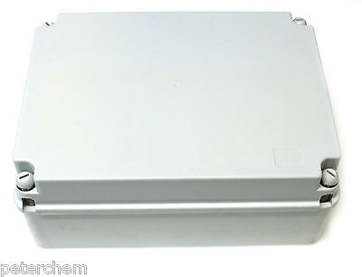 Junction Box 300 x 220 x 120 mm Weatherproof Plastic Grey IP56 PVC Adaptable NEW