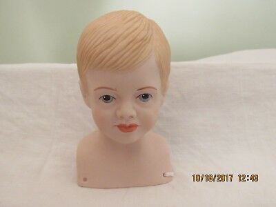 Vintage 1973 Porcelain Doll Head Marked