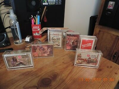 Set (6) decks of 1970's Coca-Cola Playing Cards. Sealed. Very Good Condition!