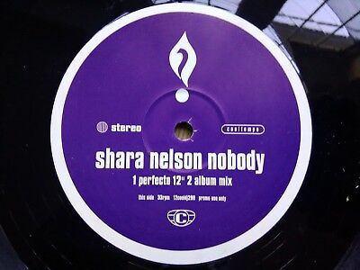 "Shara Nelson ‎– Nobody : Cooltempo ‎12"" Promo KENNY DOPE , Perfecto Mixes"