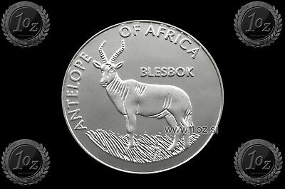 MALAWI 10 KWACHA 2003 ( ANTELOPE of AFRICA - BLESBOK ) SILVER Comm. coin * PROOF