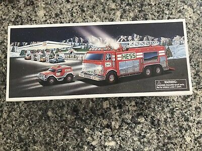 NEW 2015 Hess Emergency Truck with Rescue Vehicle in Original Box
