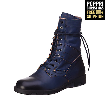 POPPRI CHRISTMAS: RRP €285 DIESEL Size 43 UK 9 D-24x7 100% Leather Combat Boots