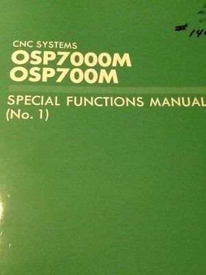 Okuma CNC Systems OSP7000M OSP700M Special Functions manual No.1 (11901)