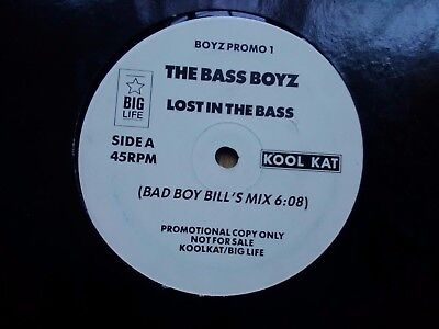"The Bass Boyz ‎– Lost In The Bass : Kool Kat 12"" 1989 HOUSE OLD SKOOL"
