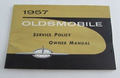 1957 Oldsmobile Owner's Manual Owners