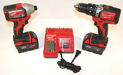 """Milwaukee FUEL M18 2702-20 1/2"""" Hammer Drill, 2750-20 1/4"""" Hex Impact Diver Kit"""