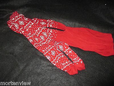 NWOT Girls Gymboree Red Alpine Cutie Snowflake Winter Knit Tights 8-10 years