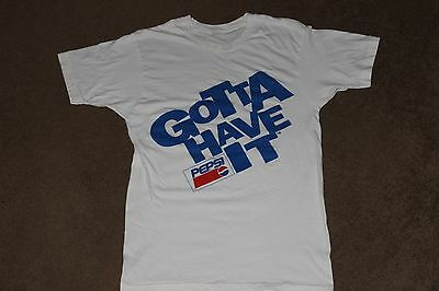 "Mens L Slim Vtg 90s 91 92 PEPSI ""GOTTA HAVE IT"" Cola Soda Advertising T shirt"