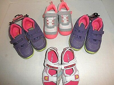 Wholesale Lot 4 pair Toddler Girls Shoes. 9M, 11M. Carter's, Danskin (Light Up!)