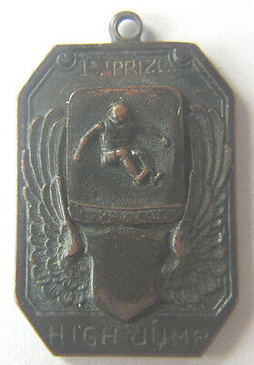 Antique High Jump Medal Winged Shield and Jumper 1st Prize