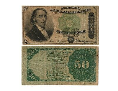 1869-75 50 CENT US Fractional Currency 4th Issue SAMUEL DEXTER  Fr#1379 VG/F