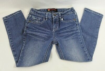 Squeeze Girls White Heart Blue Denim Jeans Size 6