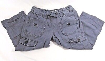 Size 8 Old Navy Kids Gray Button Up Leg Jeans/shorts  With Cargo Pockets