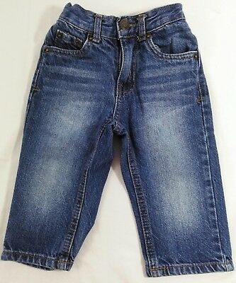 Size 12 Months Cherokee Toddlers Straight Leg Blue Denim Jeans