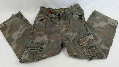 Size 6 Arizona Kids Cargo Camouflage Adjustable Waist Carpenter Pants