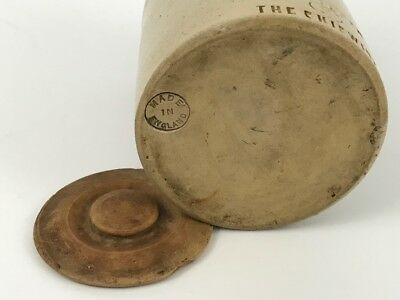 The Chiswick England Stoneware Crock 19th Century With Lid (Very Unusual)