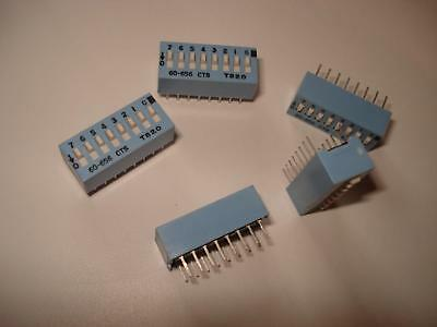 CTS 60-656 8 Position SLIDE / DIP Switch 16 PIN T820 Lot of 5