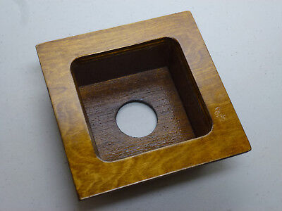 Wood Recessed Lens Board for Field or View Camera | E-0991