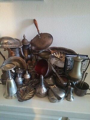 Job lot Vintage Antique Silver Plated & other Items