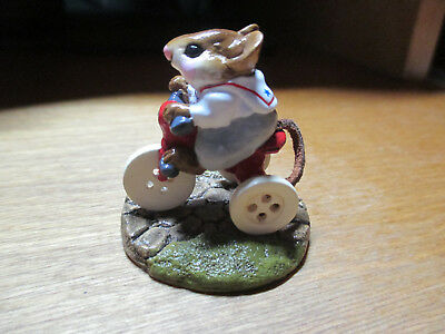 Wee Forest Folk (WFF) Mousey's Tricycle M101 Gray Pants on Red Tricycle